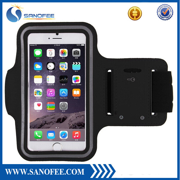 2015 high quality free sample neoprene armband cell phone case for iphone 6s
