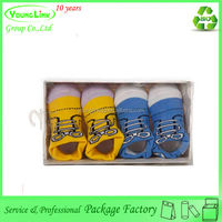 Professional factory shoe paper box for baby with hook