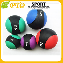 Rubber bouncing double color TPR Rubber medicine ball