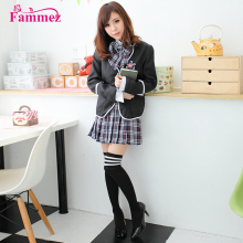 New designs sexy school girl photo costume school uniform design for girls