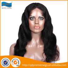Best selling wholesale healthy lace front 18 inches natural hair wig for women