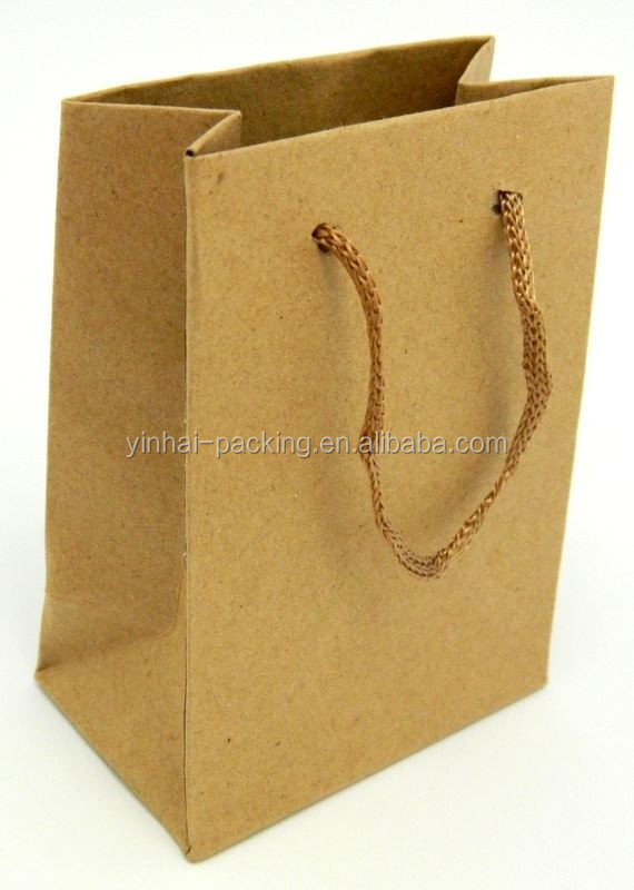 Retail Earth-friendly Bags Recycle Kraft paper Bags Vogue Brown shopping Bag