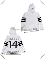 stylish trendy hip hop urban streetwear long sleeve Hooded sweater tall t-shirts 100% cotton bulk wholesale made in China
