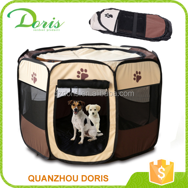 foldable&portable mesh fabric pet dog playpen house