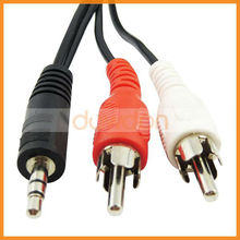 Y Splitter Audio Adapter Cable 2 Rca Male To 3.5mm