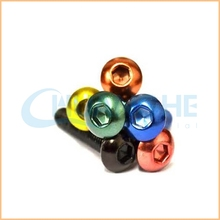 Competitive price Various size black red blue anodized aluminum screw manufacturer