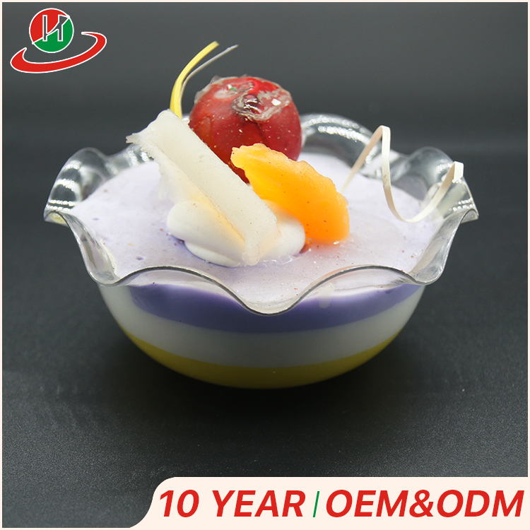 Best selling products PS mousse clear round plastic flower shape dessert pudding ice cream cup for jelly