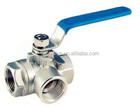 3 Way Stainless Steel Ball Valve (L port &T port)DN1/4''-4''