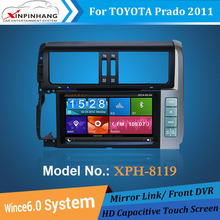 DVD player for Toyota Prado 2011 dvd navigation with DVD GPS RDS USB SD Bluetooth IPOD DVB-T TV Box Optional