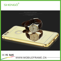 High Quality Stainless Steel Mirror Silicone Cellphone Case for iphone 6s