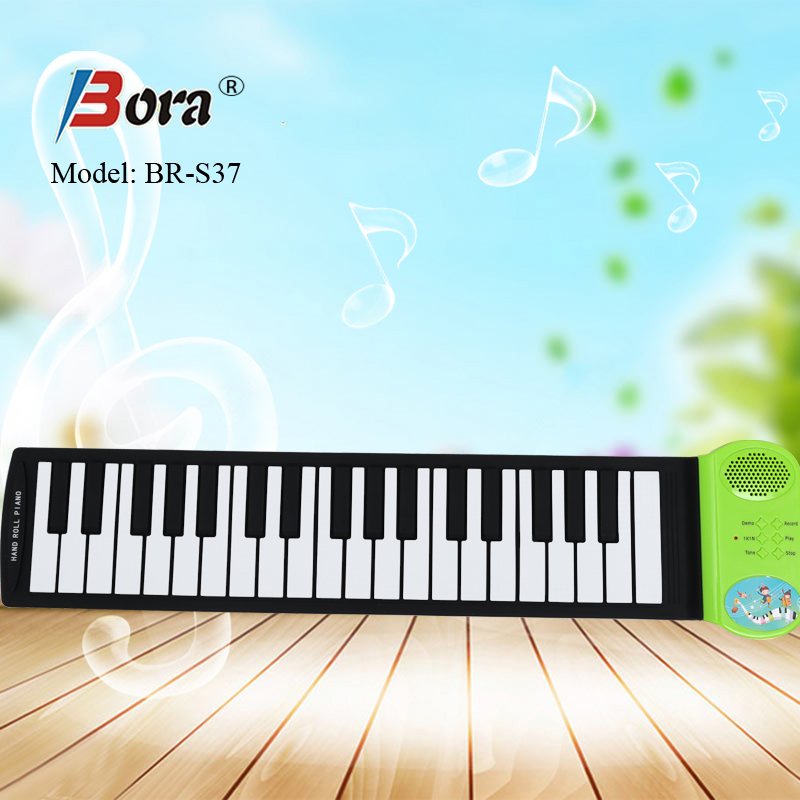 Bora 37 keys roll up piano flexible folding piano keyboard