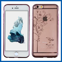 "C&T Fashion Plating Crystal Case Lovely Dream Flower Tree Clear Hard Cover for iPhone 6 plus/6S Plus (5.5"")"