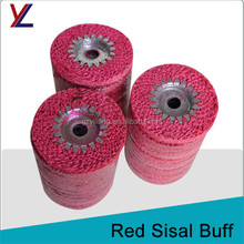 spiral felt concentric jute buffs to iron round tube