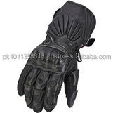 Black Motorbike Gloves With Knuckle Protector