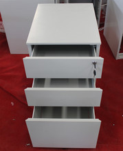Directly factory vertical metal 3 drawer mobile pedestal cabinet