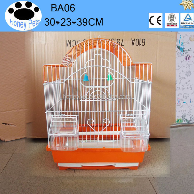 BA06 antique handmade metal chrome bird cage