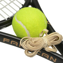 Training tennis ball with elastic string in stock