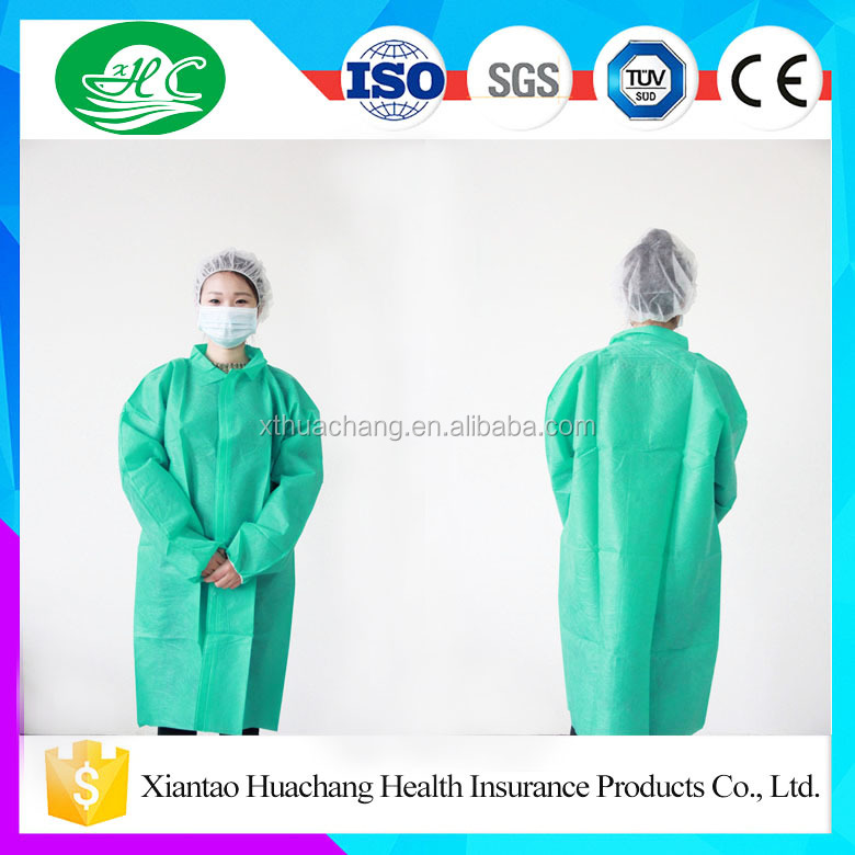 Hot Sell Non Woven Disposable Lab Coat with Reasonable price