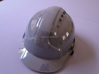 CE approved custom safety helmet gray/grey color buckle /ratchet ABS with vents