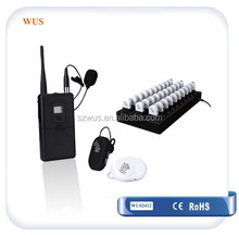 Mini Wireless TourGuide System/Ear-hanging RF Audio Receiver WUS2412 with built-in lithium battery/wireless conference system