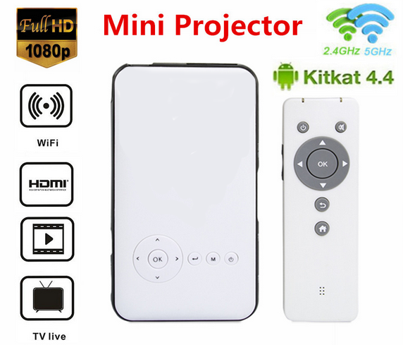 2016 Hot Portable Mini Projector 3d mini pc quad core M6 Android Mini Projector