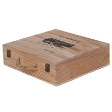 4 bottle wooden gift box for wine glass,printing packing box