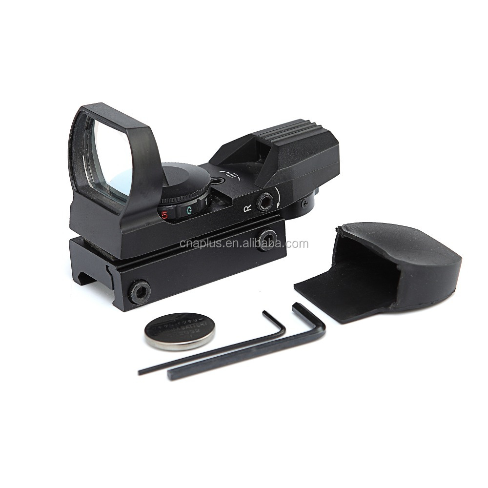 optic rifle Holographic Reflex Red Green Dot Sight Scope with 4 Type Reticle For 20mm Rails
