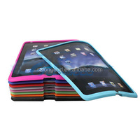 2016 high quality colorful soft shockproof silicon tablet case for ipad2