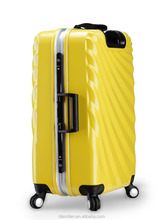 Best sell durable abs+pc travel luggage with aluminum frame DC--8503