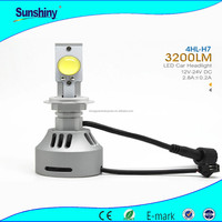 Super bright car headlight booster h7 H8 H10 H11 dc 12V-24V led bulb headlight auto