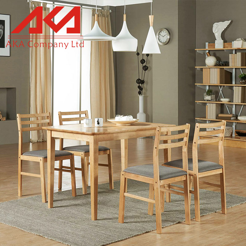 Modern Natural Dinning Room Furniture Wood Dining Table Sets