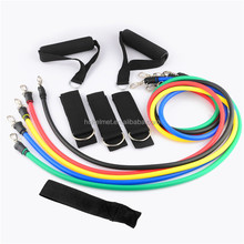 NEW 11Pcs/Set Black Fitness Resistance Bands Exercise Tubes& Practical Elastic Training Yoga Pull Rope Pilates Workout Cordages