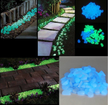 100pcs glow in the dark pebbles for garden walkway yard and Decor DIY decorative gravel stones for fish tank