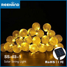 Freeshipping 30LED Outdoor Solar String Lights Warm White Crystal Ball Christmas Globe Lights for Garden, Yard, Landscape,Party