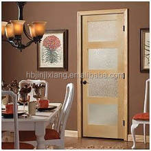 Panel Interior Office Wood Door with Glass