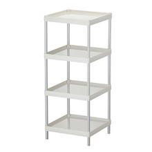 4 layers rectangular bathroom used Plastic Sundries Shelf, four-layer storage shelf plastic rack for kitchen and bathroom