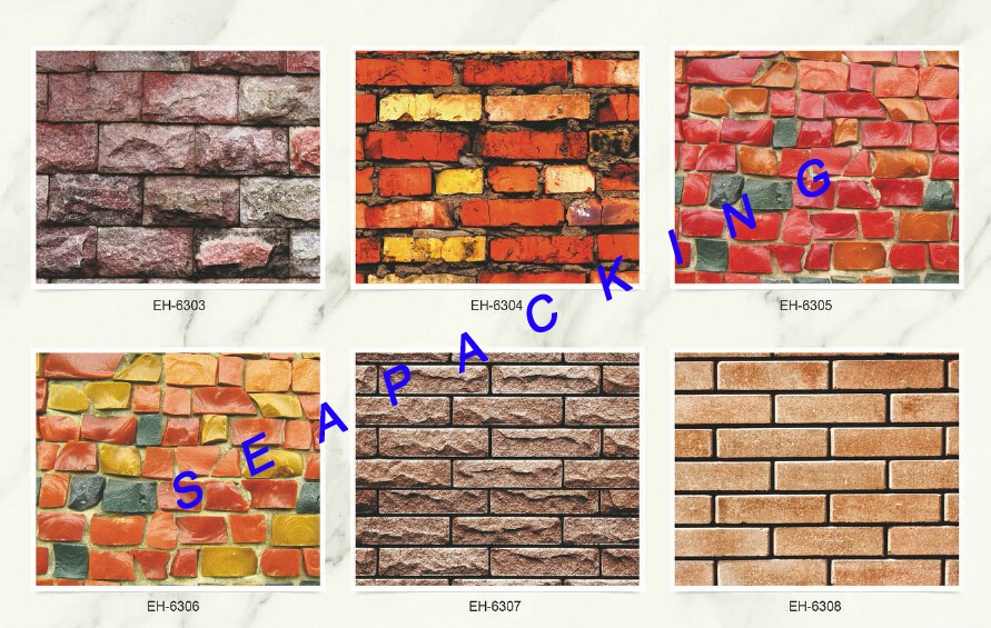 Hot sales embossed PVC self adhesive 3D brick stick wallpaper with strong glue