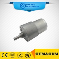 wide applcation low speed high torque 24 volt 12 volt micro brush dc gear motor