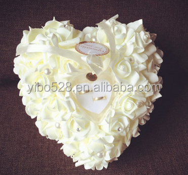Wedding Party Supplies Event mariage Festa suite of the Love of the heart of the flower Floral Design Ring Pillow