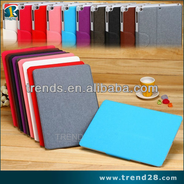 made in china alibaba stand design genuine leather case for ipad5