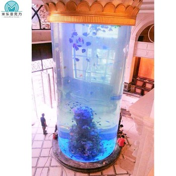 New products large size ornamental custom acrylic glass aquariums