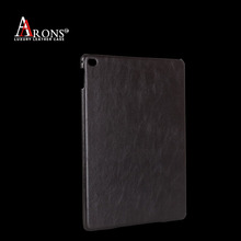 Premium High quality genuine cowhide leather oiled edge table case for ipad mini