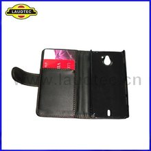 Wallet Leather Case,Leather Flip Case Cover for Sony Xperia Sola MT27i,Laudtec