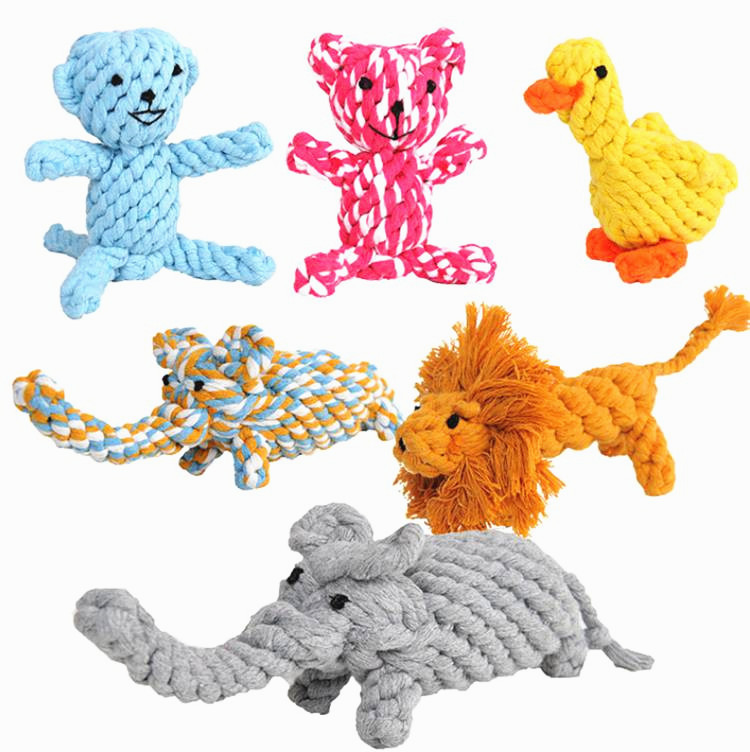 Cute Animal Models Cotton Pet Toys for Teath Dog Rope Toy