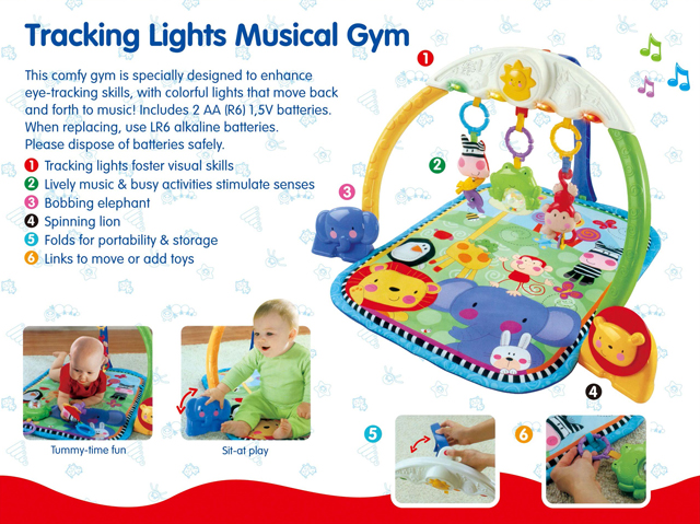 Fisher Price Baby Light And Music Gym Play Mat