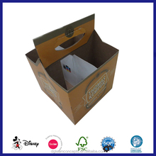 4 Pack Bottle Wine Beer Paper Cardboard Carrier