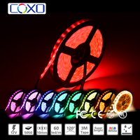Multifunctional waterproof 5050 60d warm white white rgb 12v led strip light for cars