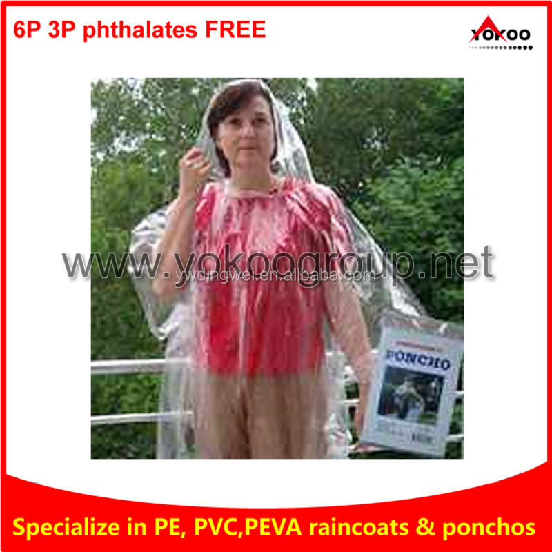 Clear Children Dispoable rain Poncho