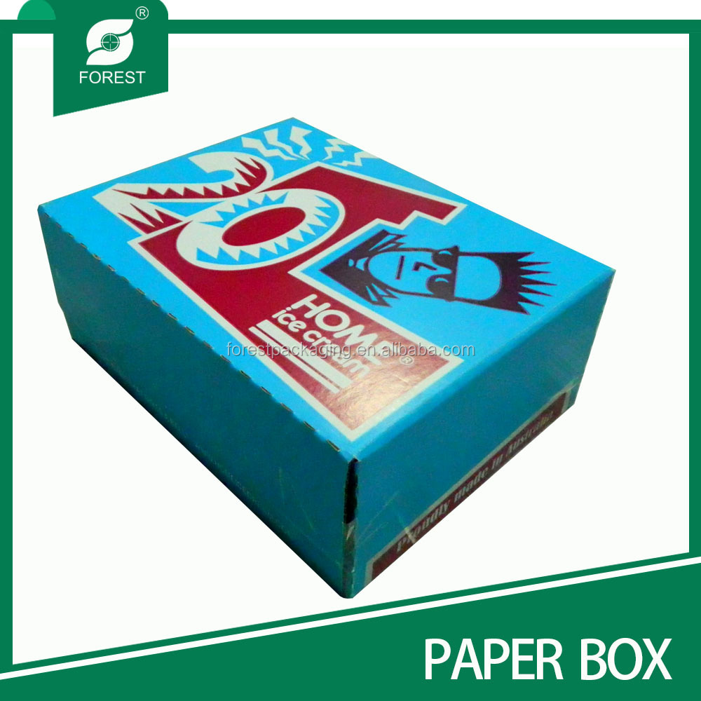 STANDARD SIZE FOOD PACKAGING BOX HOME ICE CREAM PAPER BOXES