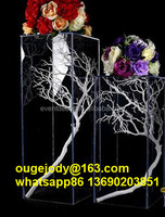 Wholesale clear acrylic wedding table decoration/ acrylic pillar centerpieces